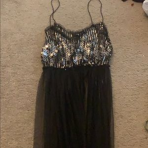 Sequins Mesh Dress